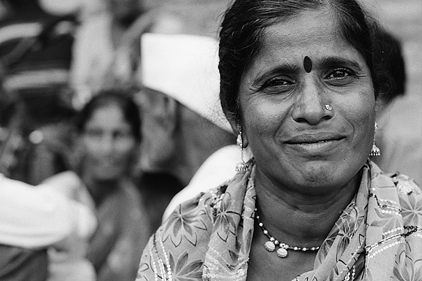 Gentle smile of woman