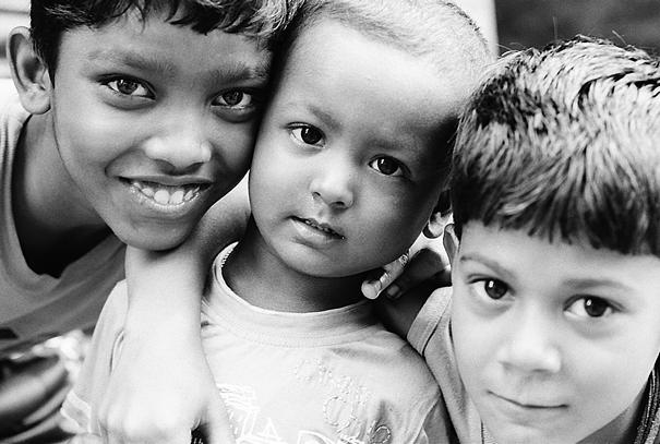 Three Boys Looking Into My Lens @ India