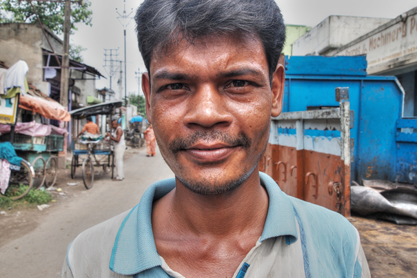 Man With A Placed Face (India)