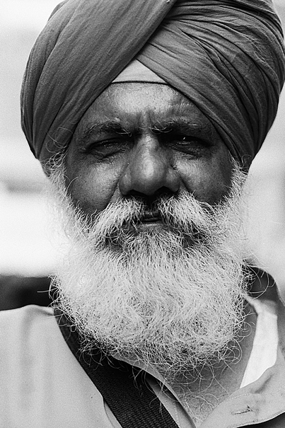 Sikh With White Beard (India)