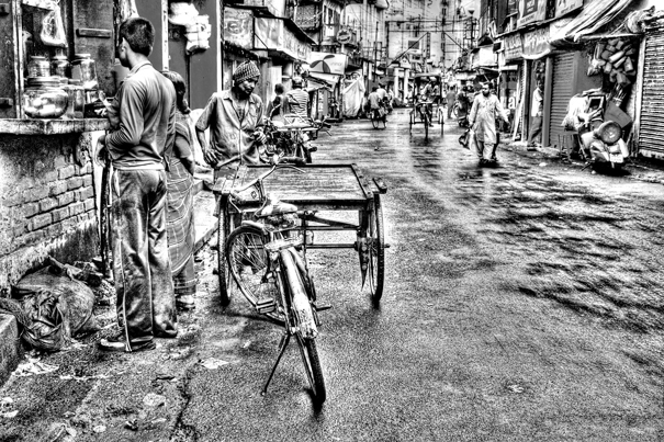 Sprinkling Of People In The Street (India)