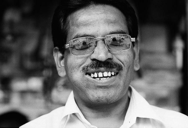 Man Wearing Glasses Smiled @ India