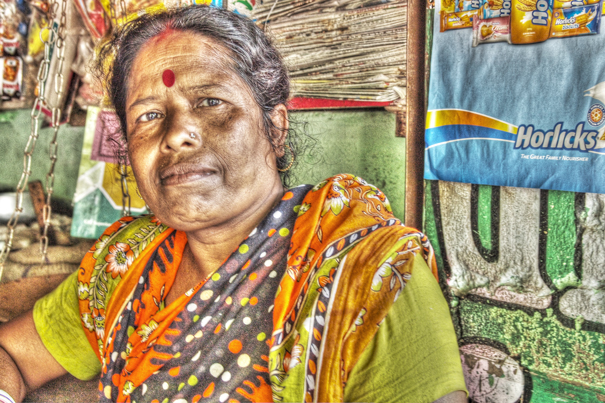 Woman With A Red Dot @ India