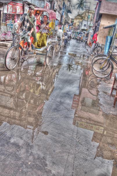 Cycle Rickshaw In The Lane @ India
