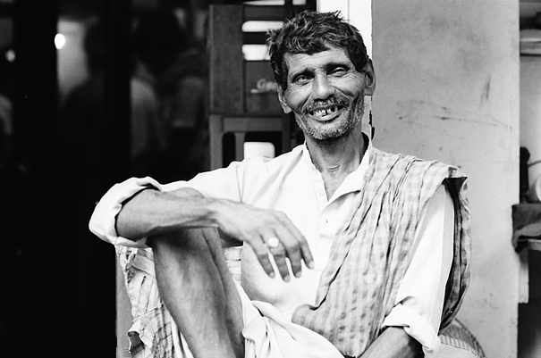 Grinning Laborer @ India