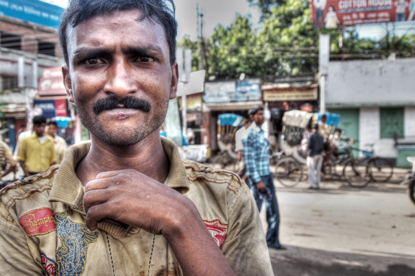 Man With A Troubled Face (India)