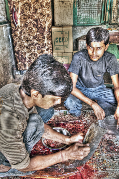 Two Men In The Butcher (India)
