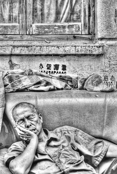 Sleeping Man On A Safa @ China
