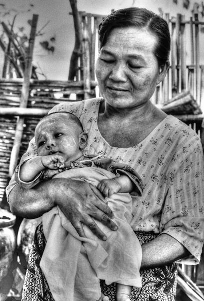 Grandma Holding A Baby (Myanmar)