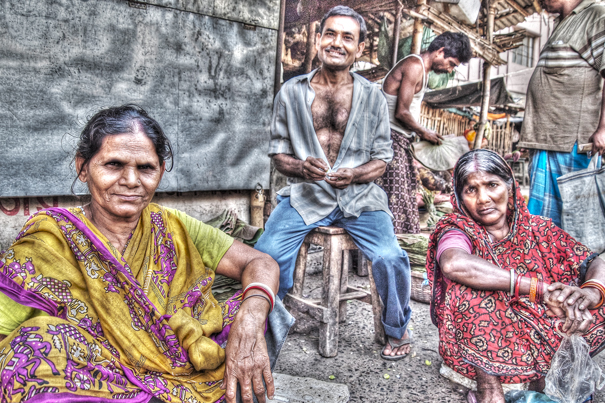Three Persons By The Wayside (India)