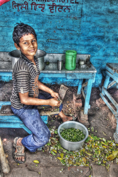Cutting Vegetables (India)