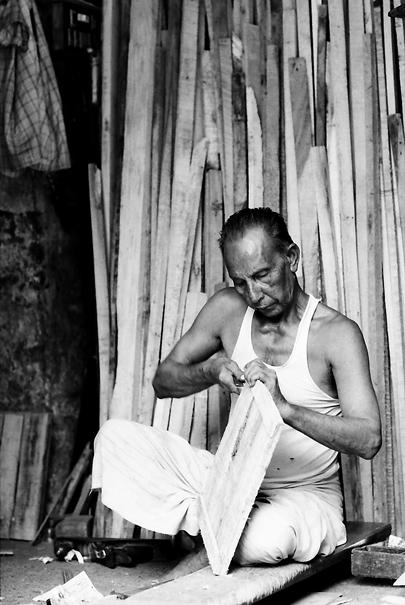 Working Man Against The Timbers (India)