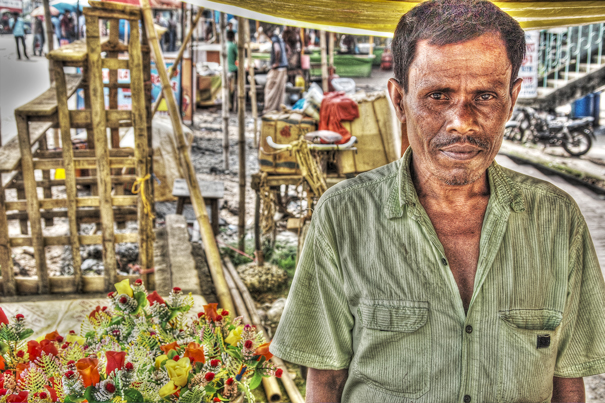 Man In A Flower Shop @ India