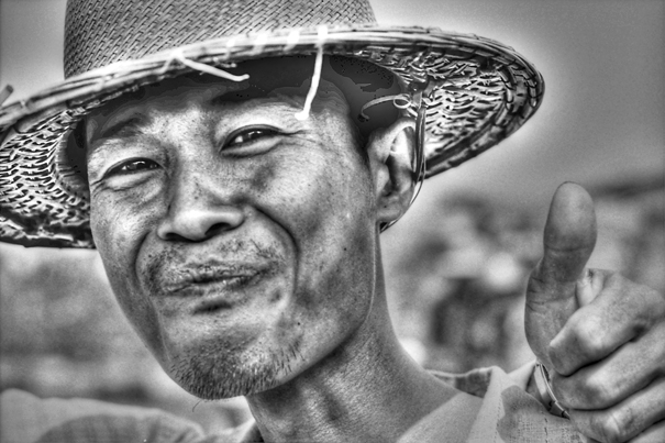 Man Wearing A Hat Thumbed Up (Myanmar)