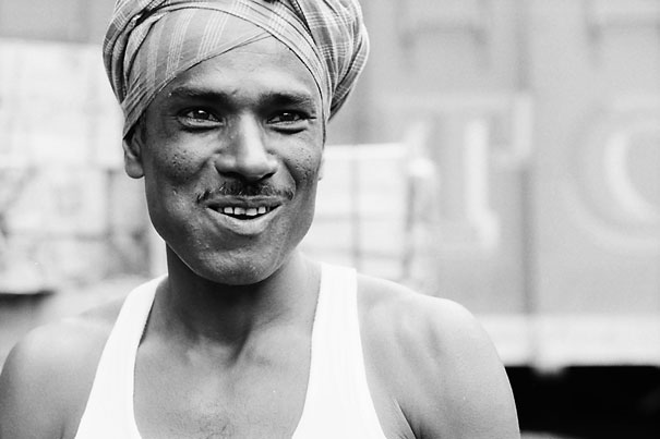 Smiling Laborer @ India