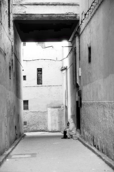 Figure In The Narrow Alley (Morocco)