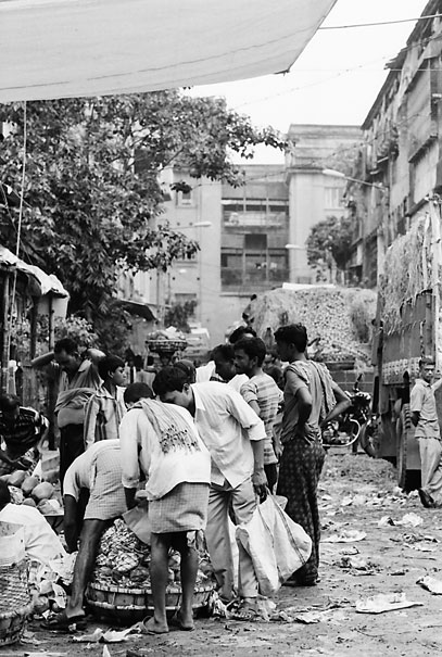 Crowd Of People In Alley (India)