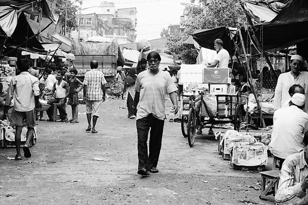 Man walking street