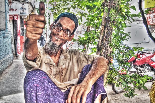 Glasses, Beard And Thumb (India)