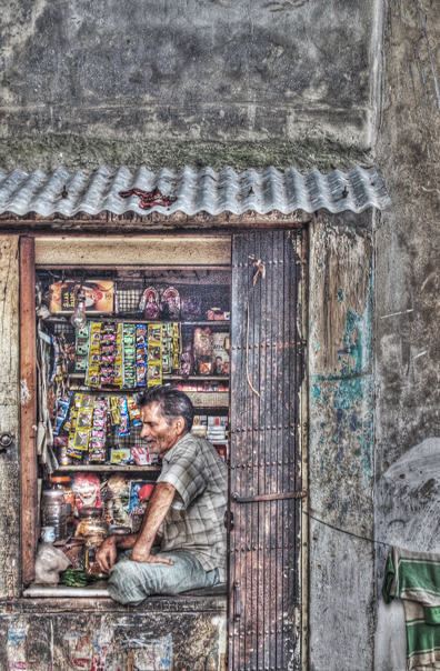 Small Shop In A Corner Of A Street @ India