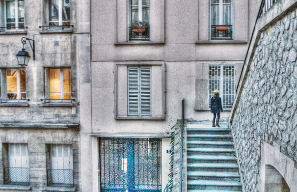 Girl On The Stairway (France)