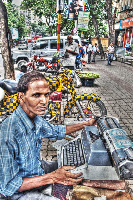 Typewriter On The Sidewalk (India)