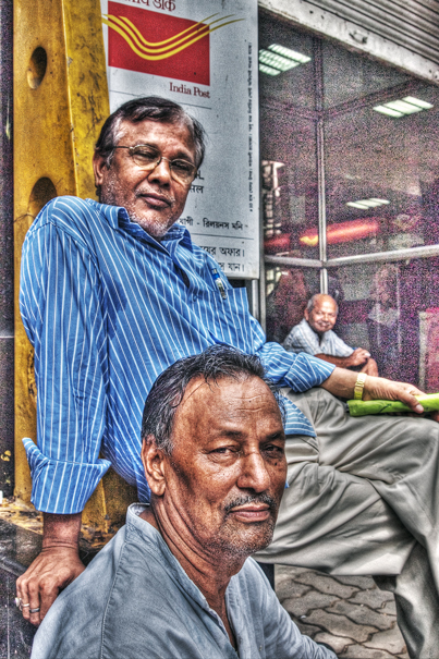 Two Men At The Entrance Of A Post Office (India)