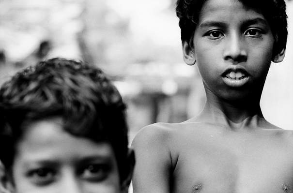 Calm Eyes Of Two Boys (India)