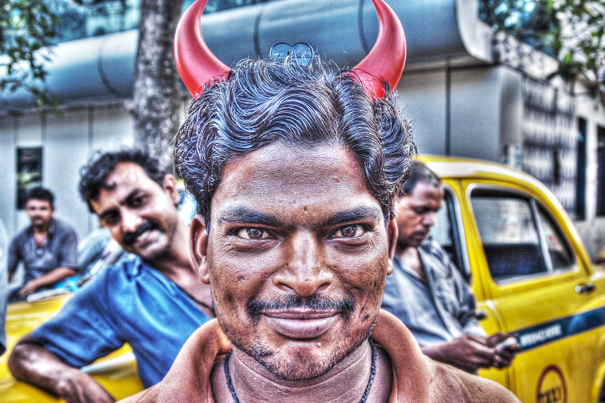 Man With Two Red Horns (India)