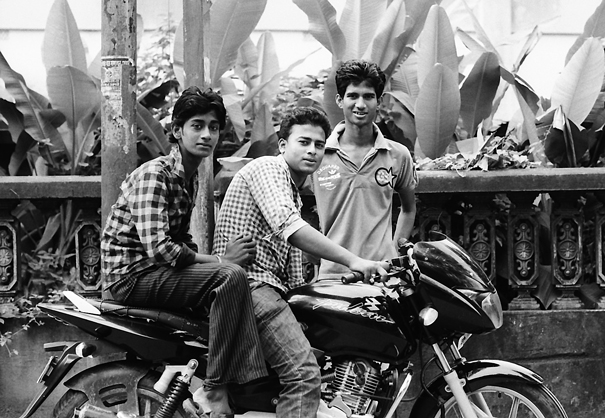 Three Men And A Motorbike @ India