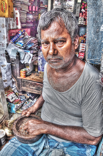 Tobacconist With Gray Hair (India)