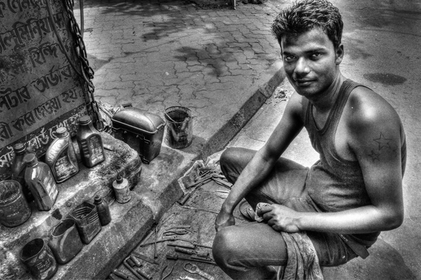 Man Selling Oils (India)