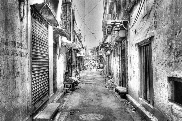 Deserted lane