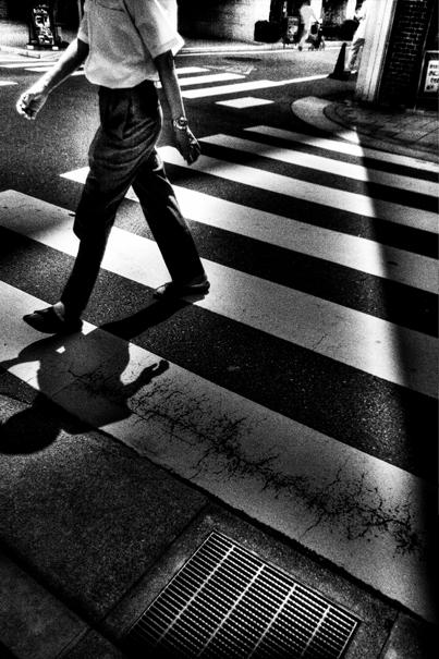 横断歩道の人影 @ 東京
