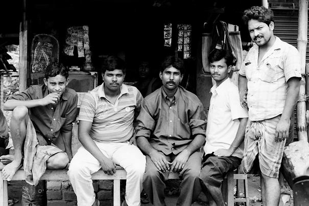 Men relaxing in chai stand