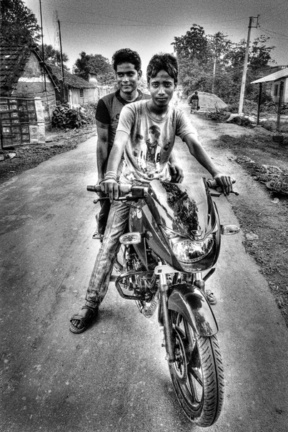 Two Men On A Motorbike @ India