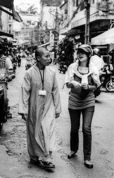 Young nun and girl