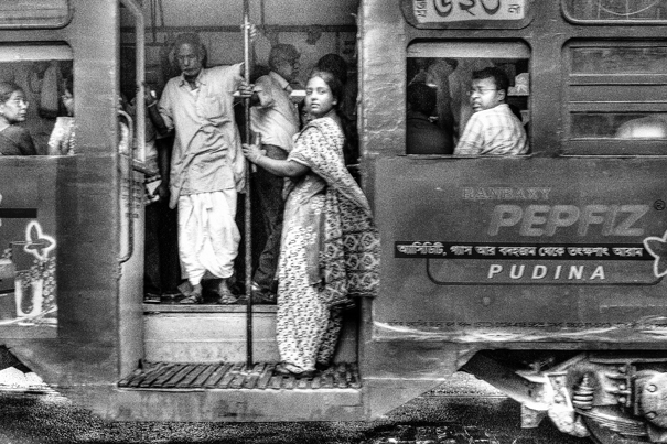 Saree On The Tram @ India