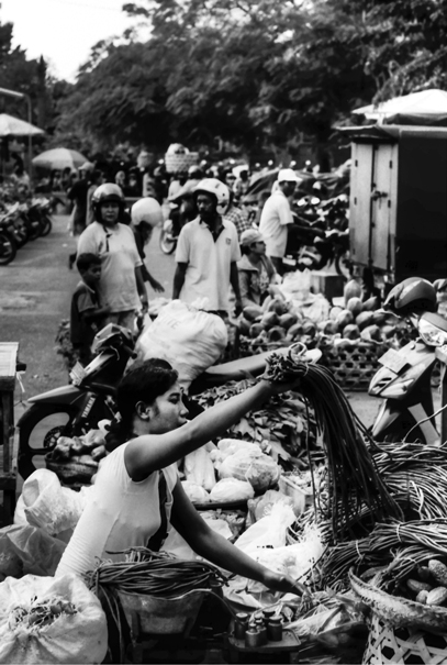 Woman Working At The Market (Indonesia)