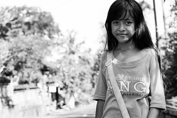 Girl After School In Deserted Street (Indonesia)