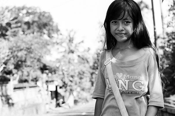 Girl carrying bag