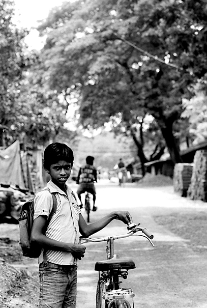 Boy And Bicycle (India)