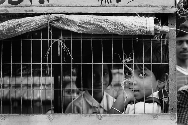 School Kids In The Cage (India)
