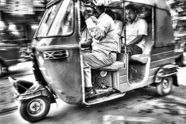Speeding Auto Rickshaw @ India