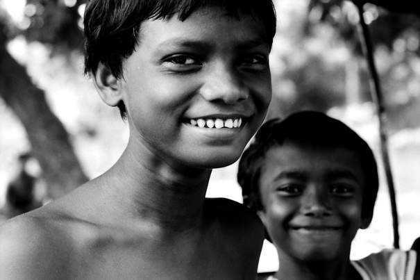 White Teeth Of A Grinning Boy (India)