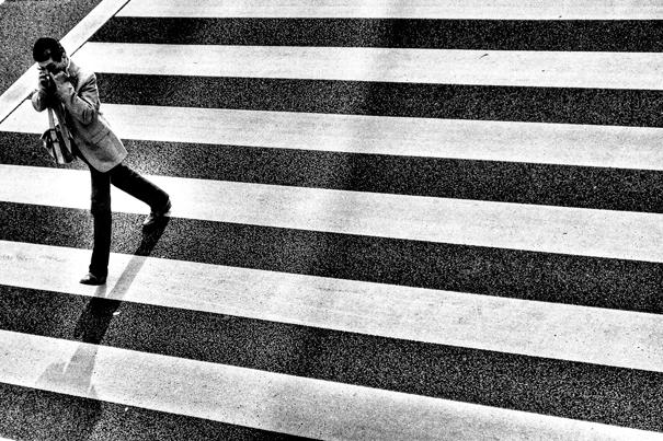 Man On The Zebra Crossing @ Tokyo