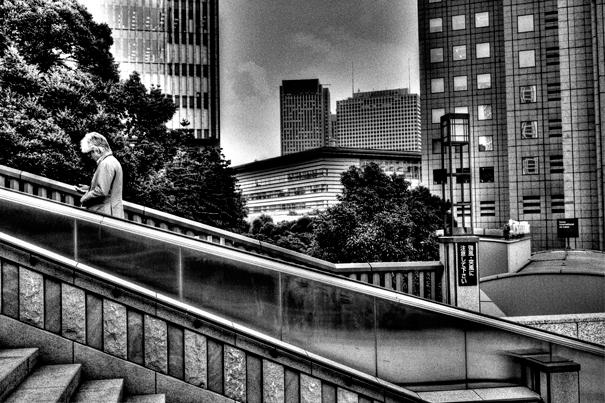 Escalator Beside The Stairway (Tokyo)