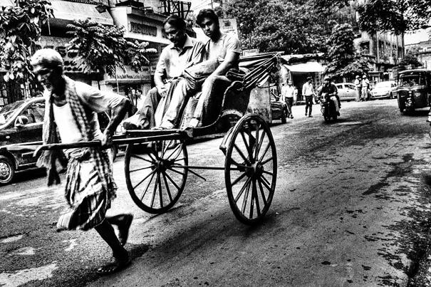 Rickshaw Was Running @ India
