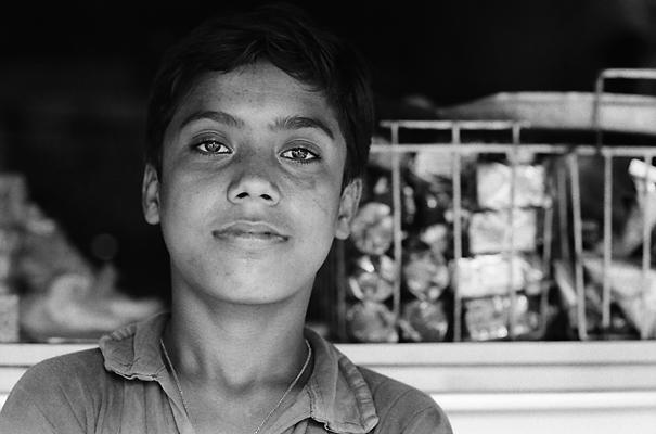 Boy Leaning Back @ India