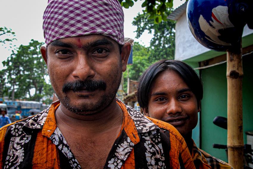 Man wearing bandana and bindi
